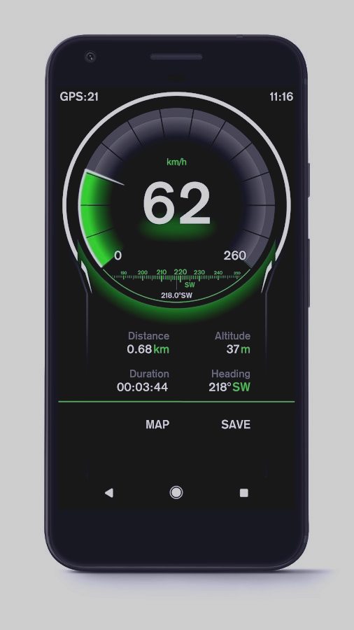 Скриншот Speed View GPS Pro