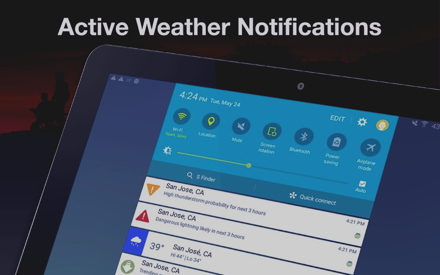 Скриншот Weather by WeatherBug
