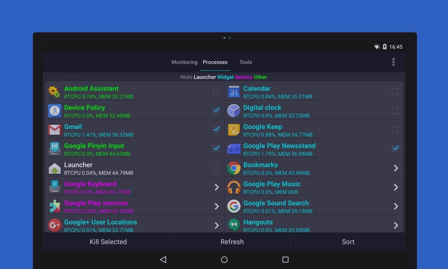 Скриншот Android Assistant